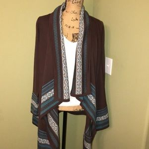 Sz Sm. D&CO. Brand worn once open front cardigan